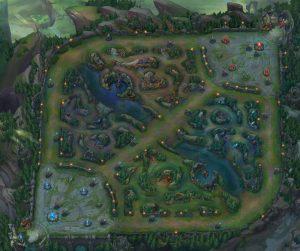 League of legends Map fog of war