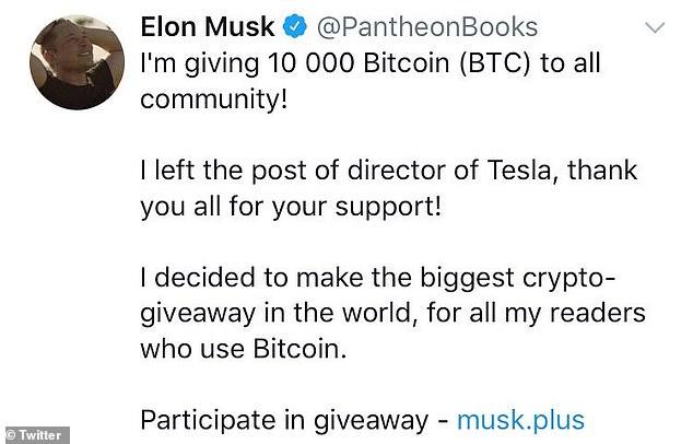 elon musk fake twitter bitcoin hack scam