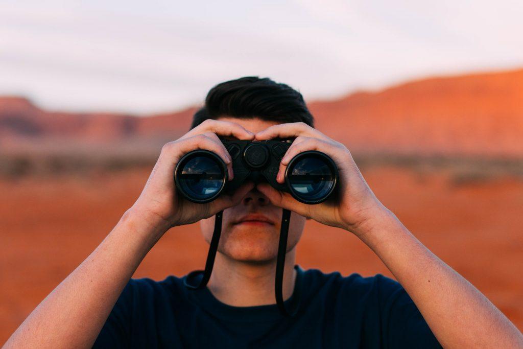 observation binoculars looking find